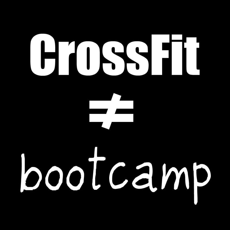 CrossFitDoesNotEqualBootCamp